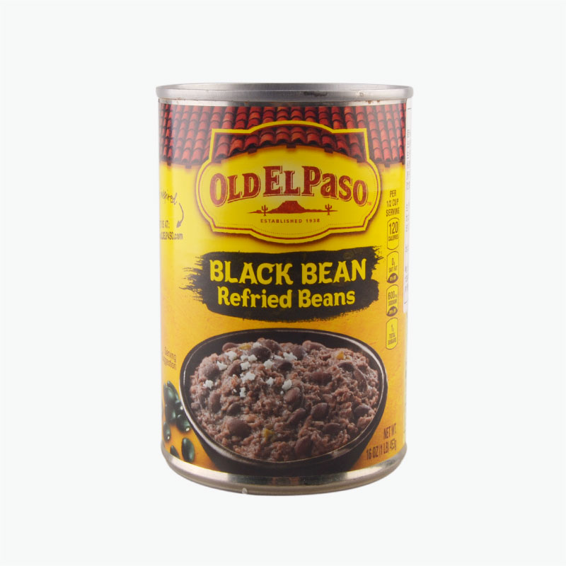 Old El Paso Refried Beans,Black Beans 453g