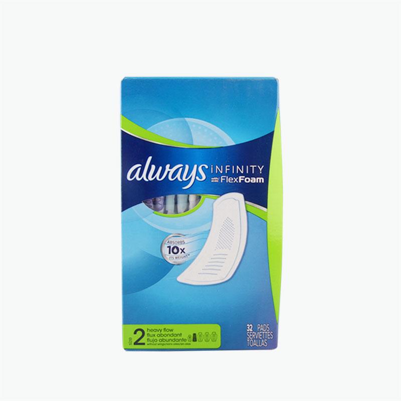 Always, 'Infinity' Padswith Flex Foam Wings (Heavy Flow, Unscented) x32