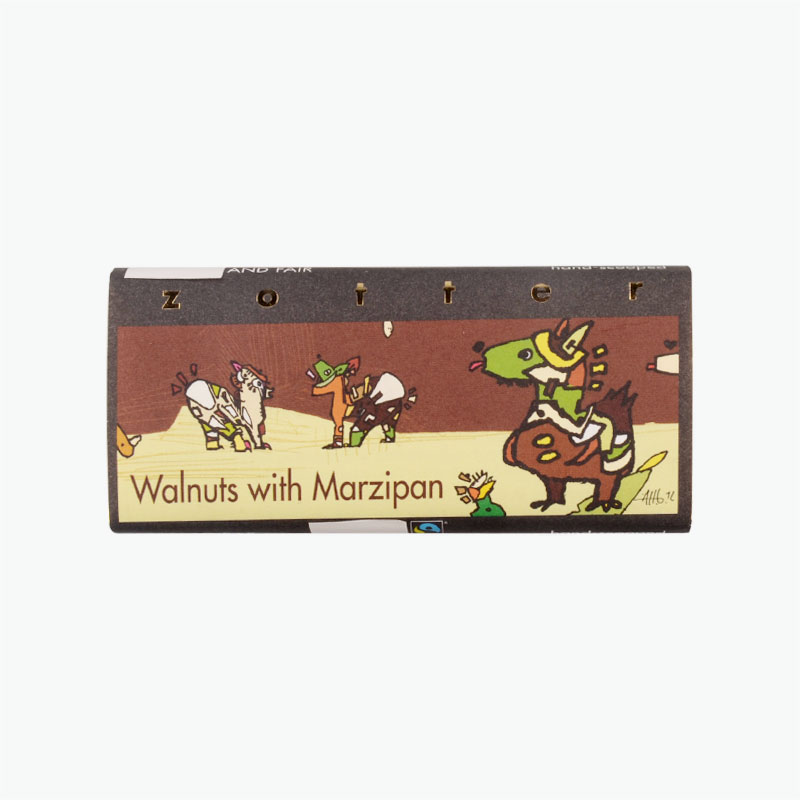 Zotter Walnut Marzipan 70g