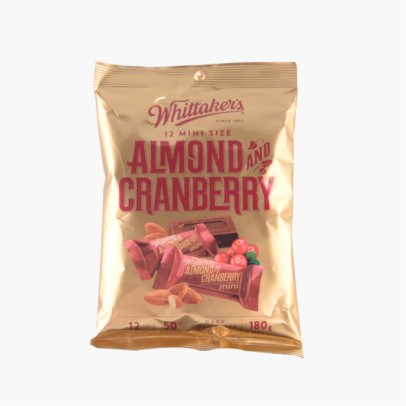 Whittaker´s  Mini Almond and Cranberry Dark Chocolate 180g(12pc)