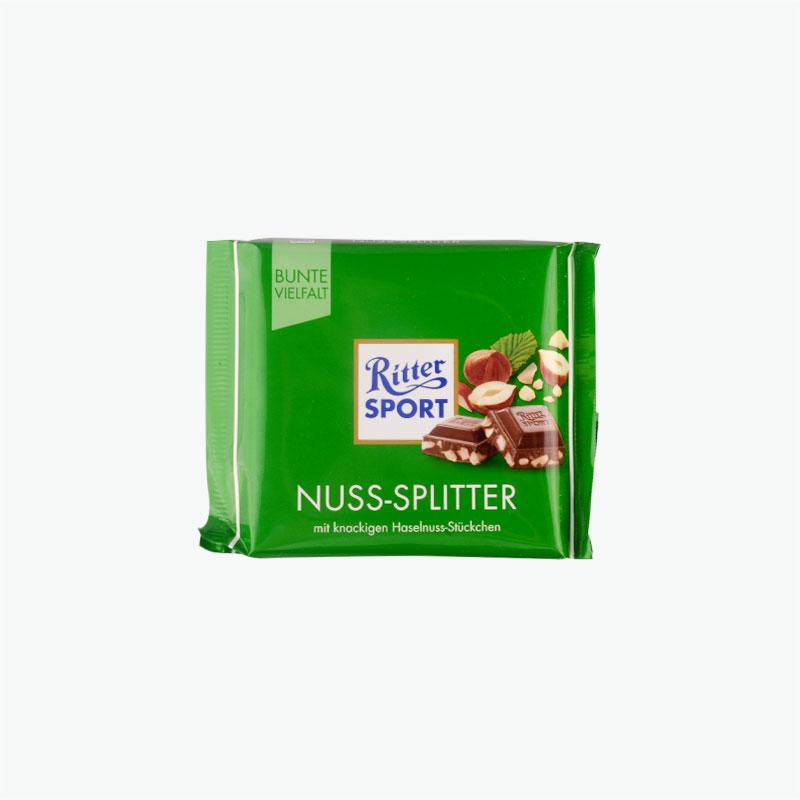 Ritter Sport Milk Chocolate with Half Hazelnuts 100g