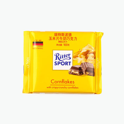 Ritter Sport, Milk Chocolate with Cornflakes 100g