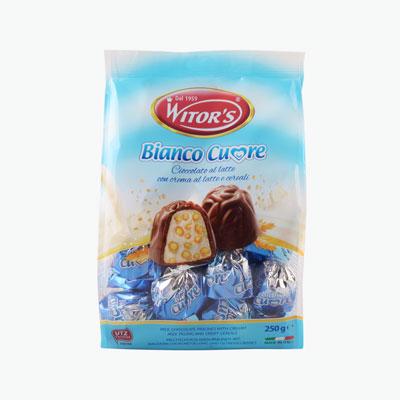 Witor's, 'Bianco Cuore' Milk Chocolate Pralines 250g