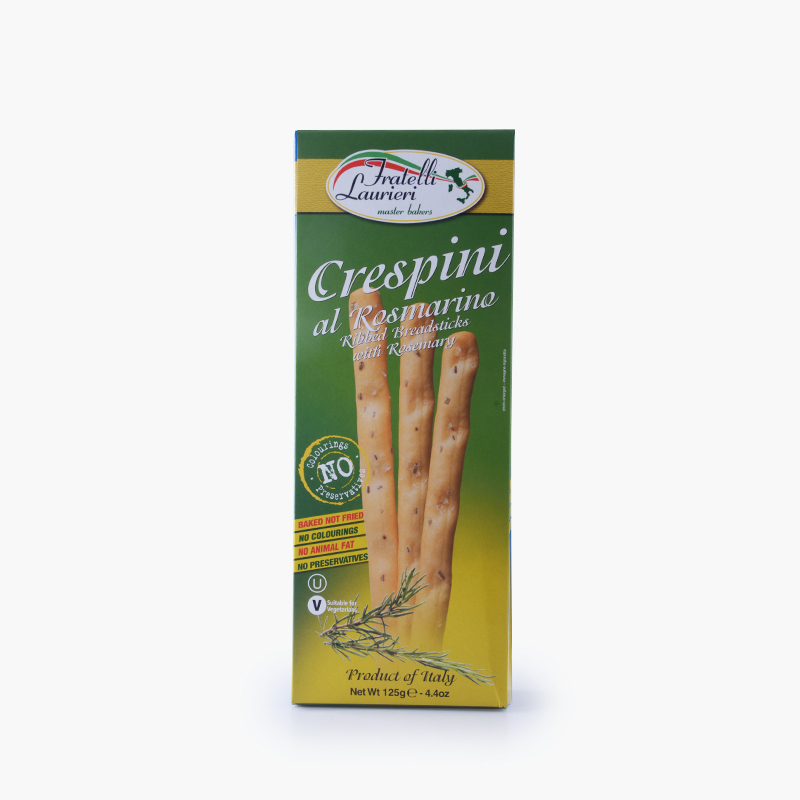Fratelli Laurieri,  'Crespini' Breadsticks (Rosemary) 125g