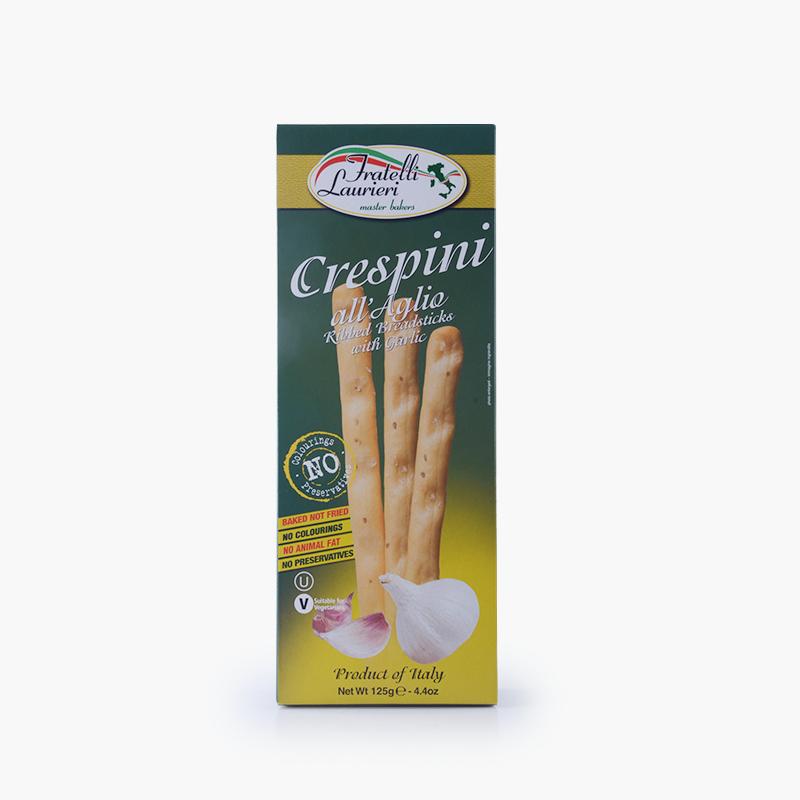 Fratelli Laurieri,  'Crespini' Breadsticks (Garlic) 125g