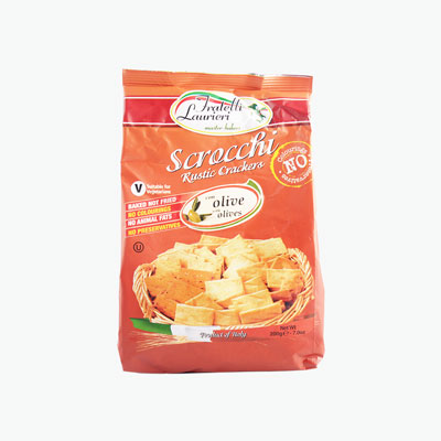 Fratelli Laurieri, 'Scrocchi' Rustic Crackers (Olive) 200g