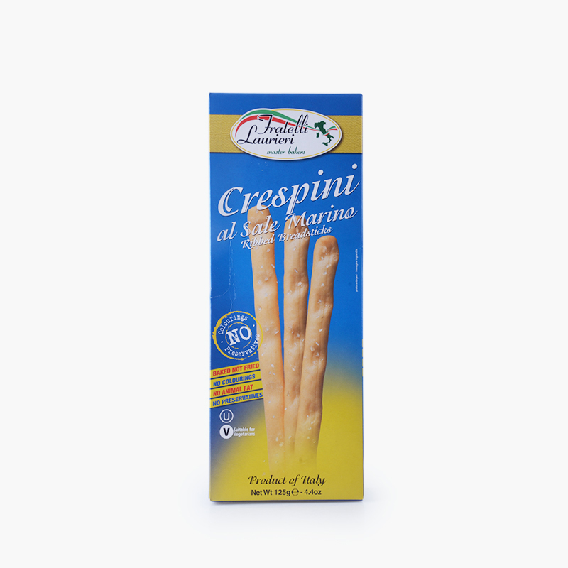 Fratelli Laurieri, 'Crespini' Breadsticks (Sea Salt) 125g