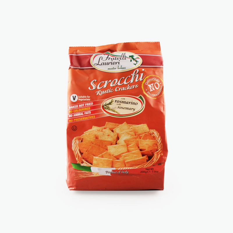 Fratelli Laurieri, 'Scrocchi' Rustic Crackers (Rosemary) 200g