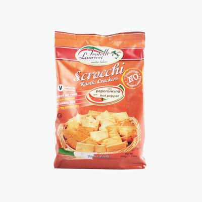 Fratelli Laurieri, 'Scrocchi' Rustic Crackers (Hot Pepper) 200g