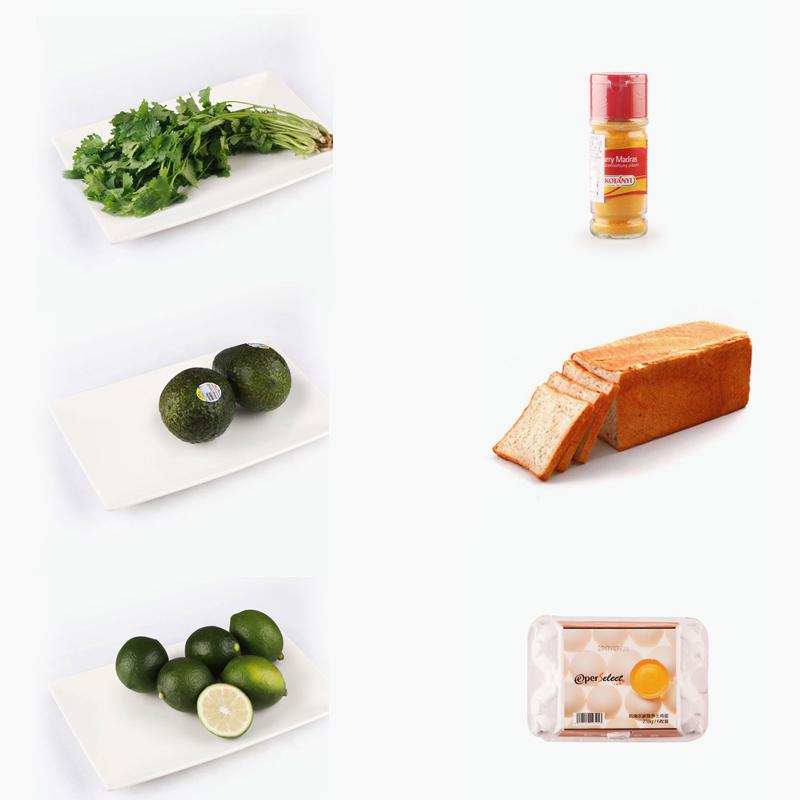 Curry-Avocado Crispy Egg Toast