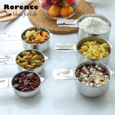 RORENCE Stainless Steel Measuring Cups(set of 6)