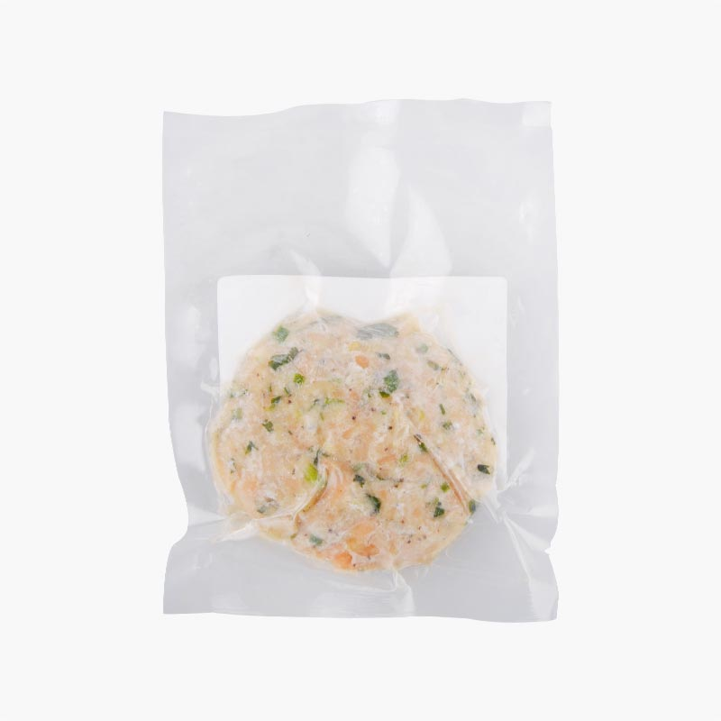 Salmon Burger Patty Sesame flavor 100g