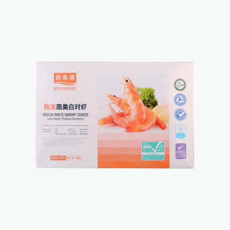 New Fishport Frozen Cooked White Shrimp 800g