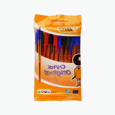 Bic, 'Cristal Original' Ball Point Pen (Fine Point) x10