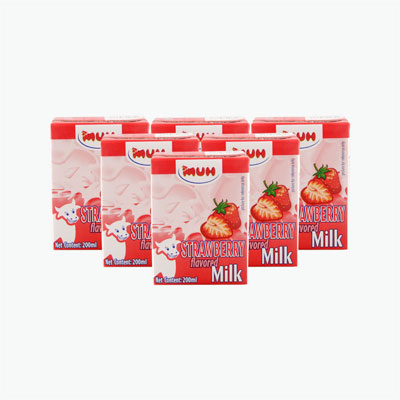 MUH Strawberry Flavored Milk 200ml*6