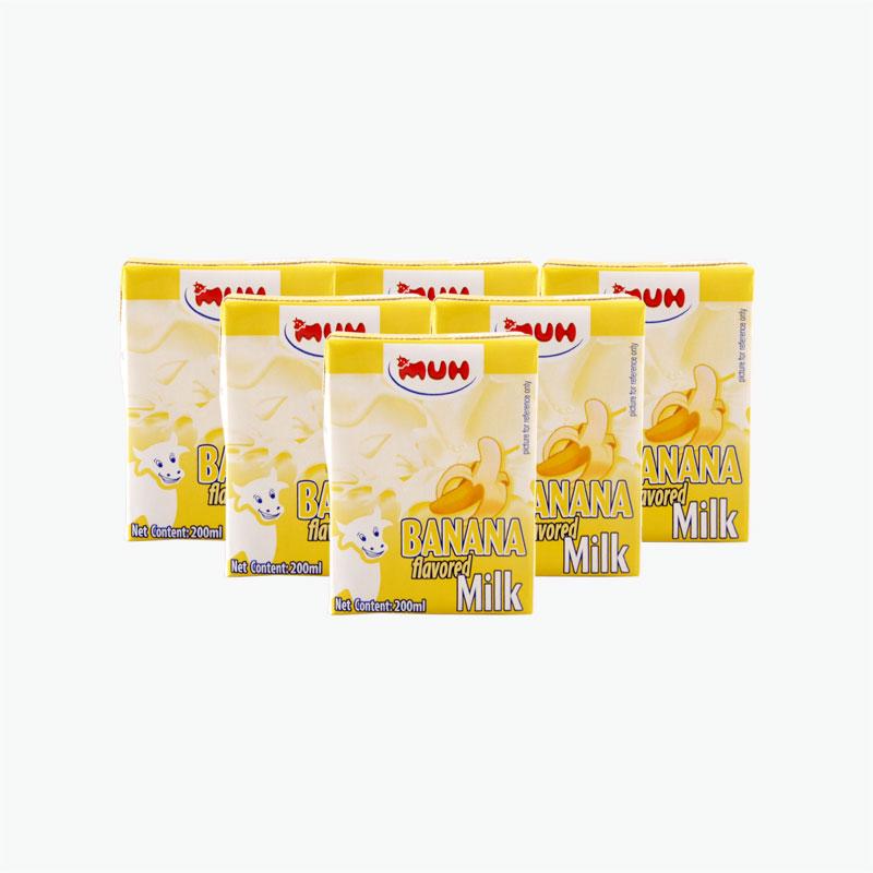 MUH Banana Flavored Milk 200ml*6