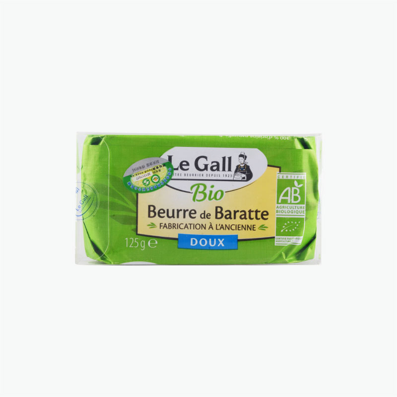Le Gall Organic Unsalted Butter Block 125g