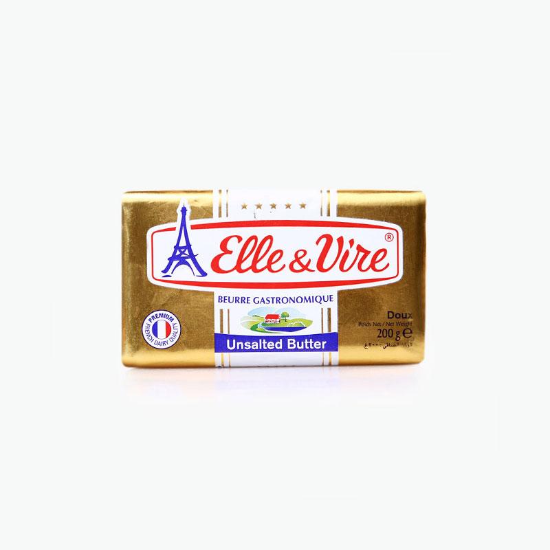Elle & Vire Unsalted Butter 200g