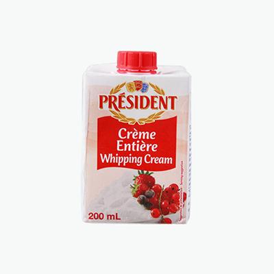 President Whipping Cream 200ml