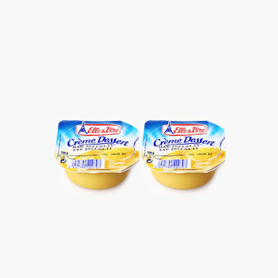 Elle & Vire Vanilla Milk Pudding 100g x2