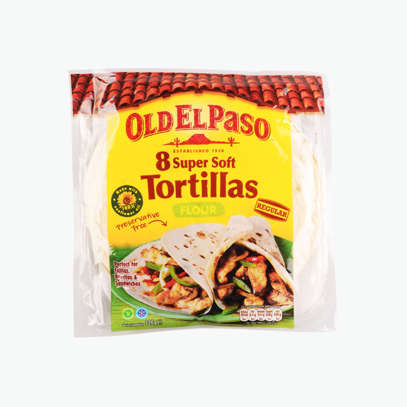 Old El Paso, Flour Tortillas x8 326g