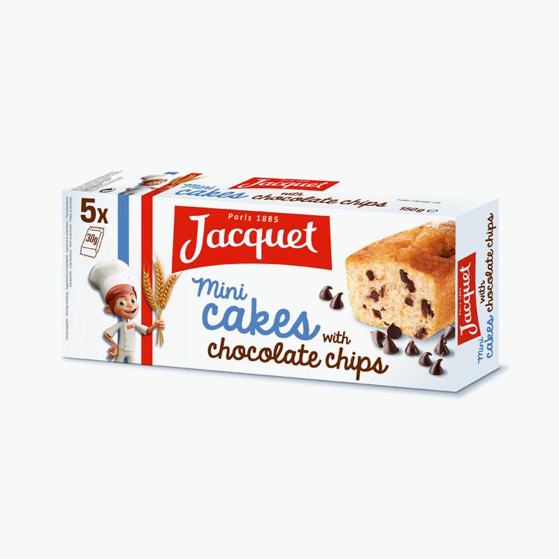 Jacquet Mini Chocolate Chip Cakes x5 150g
