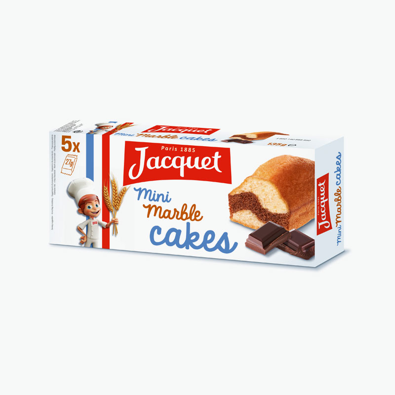 Jacquet Mini Marble Cakes x5 135g