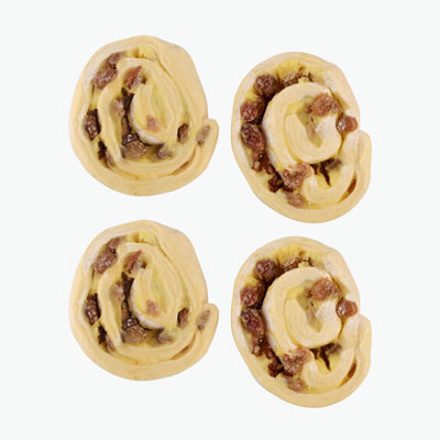 Fine Butter Raisin Swirl 110g x4