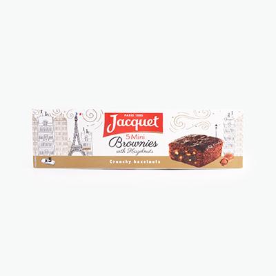 Jacquet Mini Brownie with Hazelnuts x5 150g