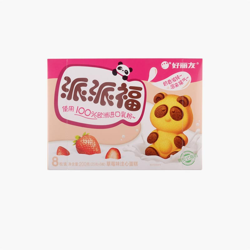 Orion Panda Cakes with Strawberry Filling x8 200g