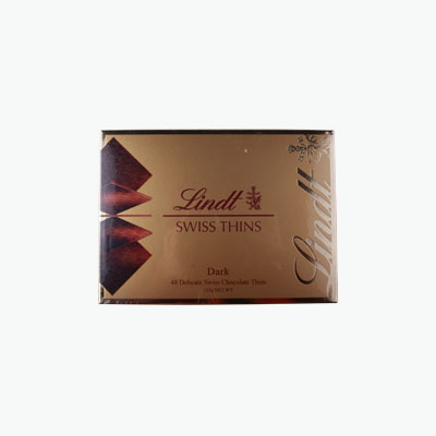 Lindt, 'Swiss Thins' Dark Chocolates 125g