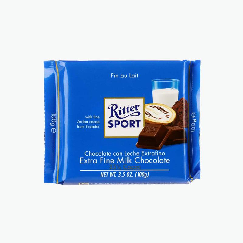 Ritter Sports, Extra Fine Milk Chocolate 100g