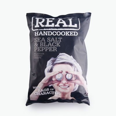 Real, Hand Cooked Potato Crisp (Sea Salt & Black Pepper) 150g