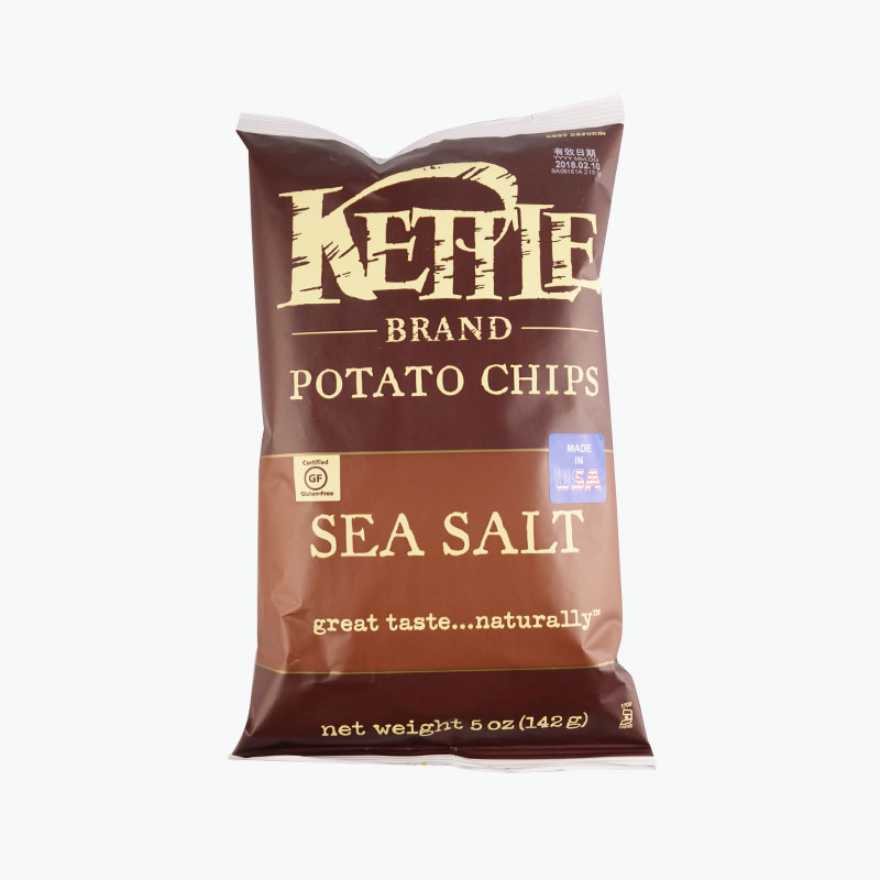 Kettle, Potato Chips (Sea Salt) 142g