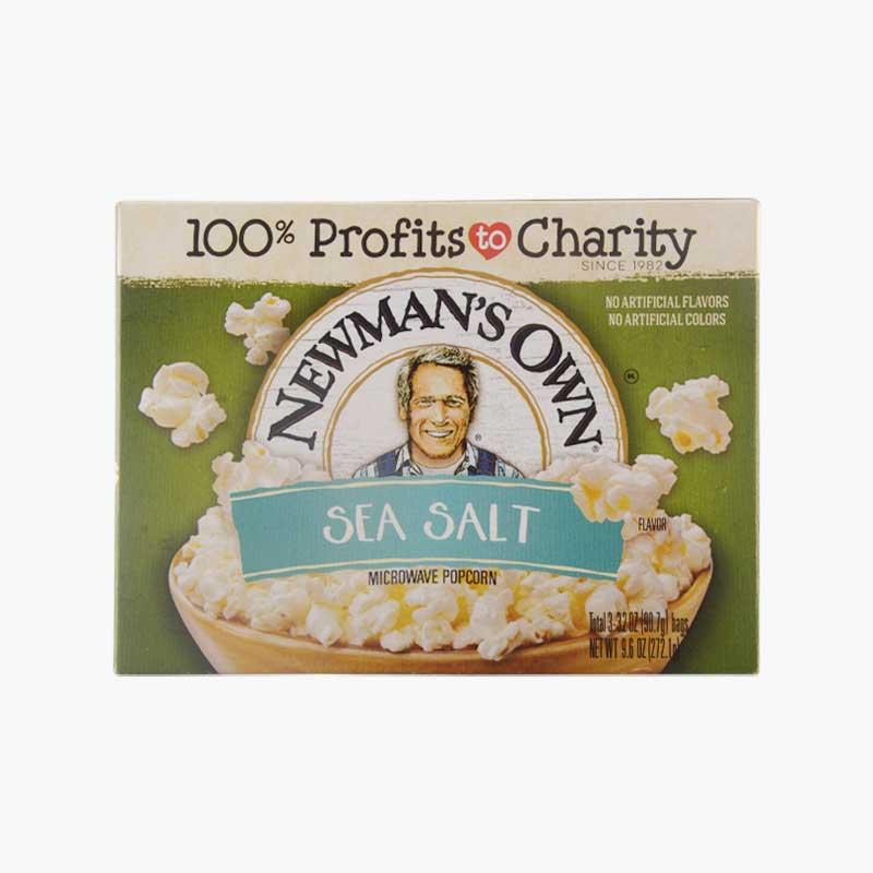 Newman's Own, Microwave Popcorn (Sea Salt)  272.1g