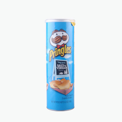 Pringles, Potato Chips (Salt & Vinegar) 158g