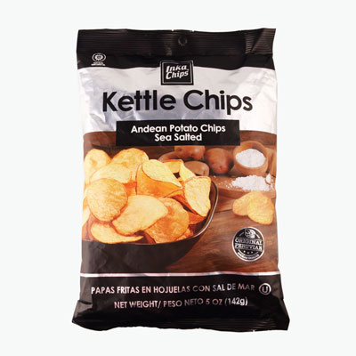 Inka Chips, Kettle Chips (Sea Salted) 142g