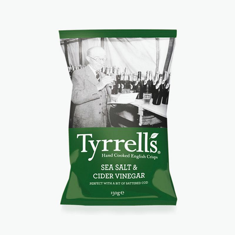 Tyrrell S Potato Chips Sea Salt Amp Cider Vinegar 150g