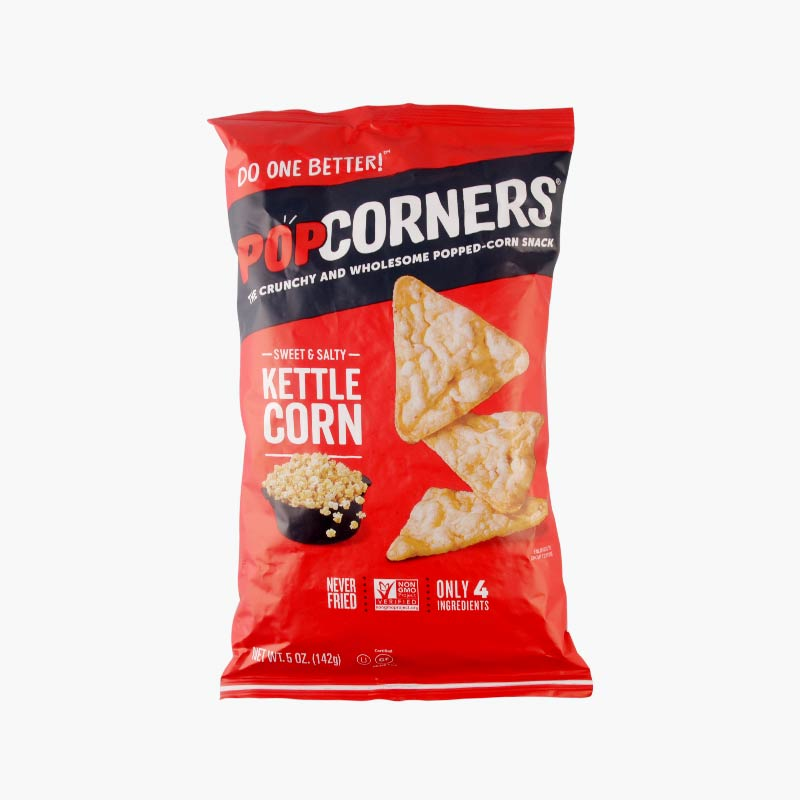 Popcorners, Popped Corn Chips (Kettle) 142g