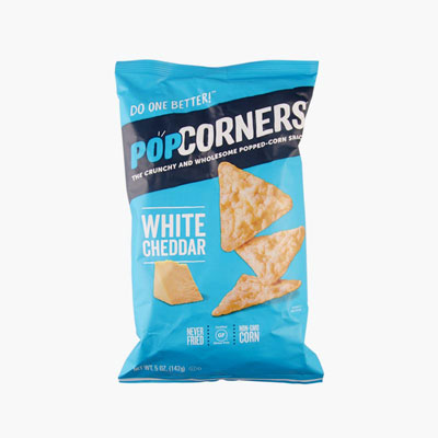 Popcorners, Popped Corn Chips (White Cheddar) 142g