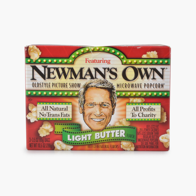 Newman's Own, Microwave Popcorn (Light Butter) x3 298g