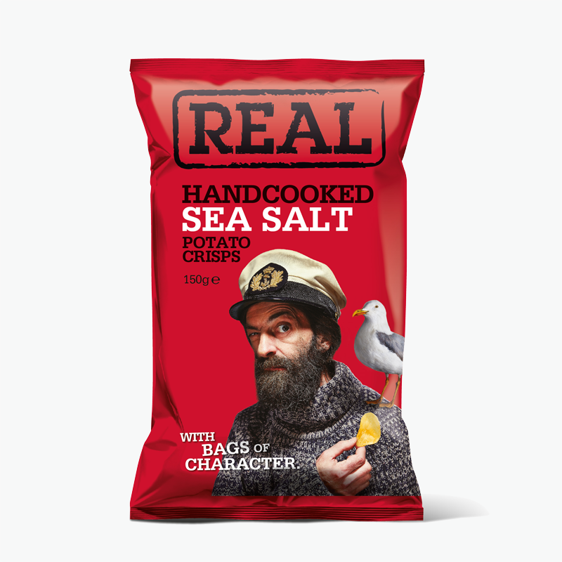 Real, Hand Cooked Potato Crisp (Sea Salt) 150g
