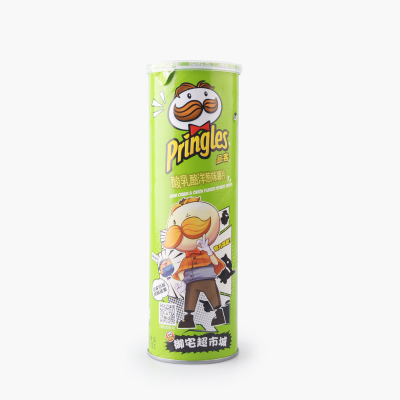 Pringles, Potato Chips (Sour Cream & Onion) 110g