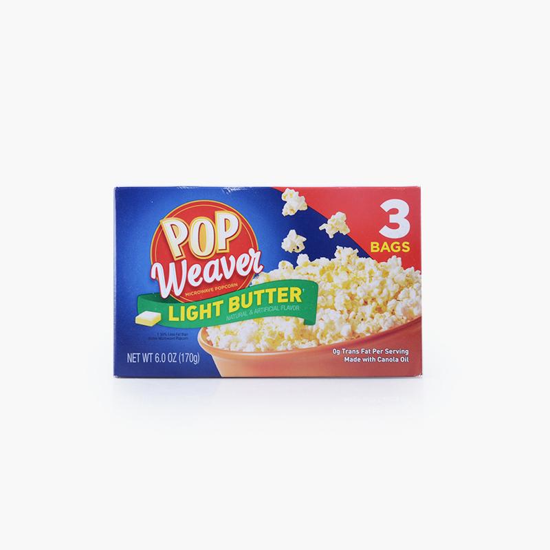 Pop Weaver, Microwave Popcorn (Light Butter) 170g