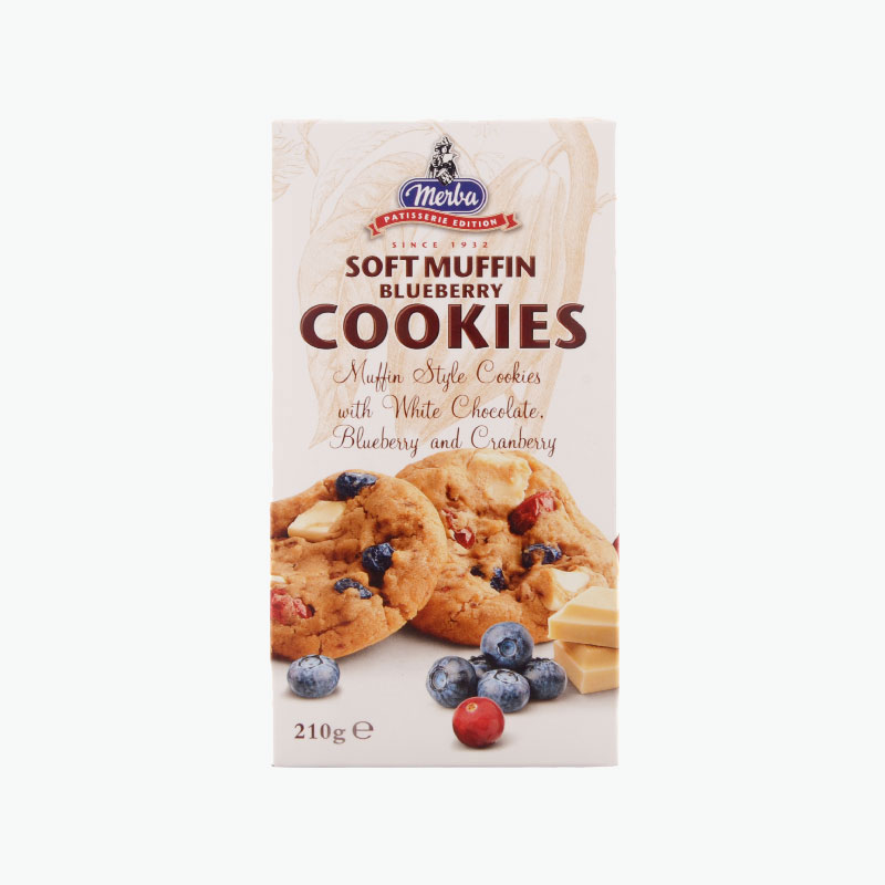 Merba Patisserie Soft Muffin Blueberry Cookies 210g