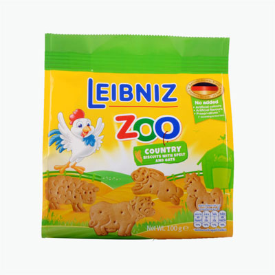 BAHLSEN Zoo Country Spelt and Oat Biscuits 100g