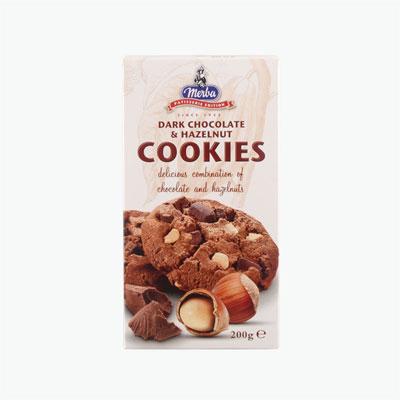 Merba Patisserie Dark Chocolate & Hazelnut Cookies 200g