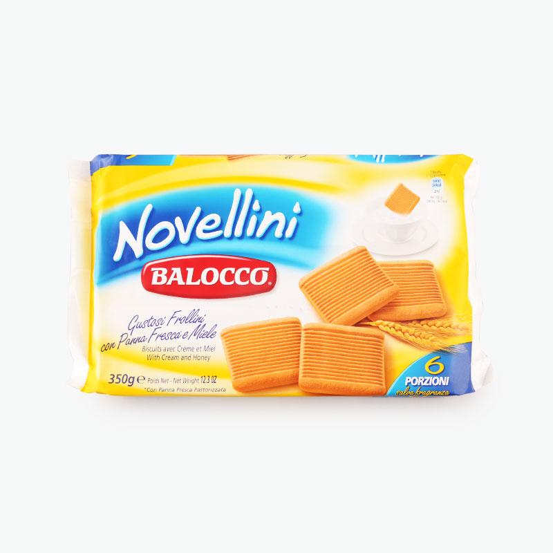 Balocco,  'Novellini' Honey & Cream Cookies 350g