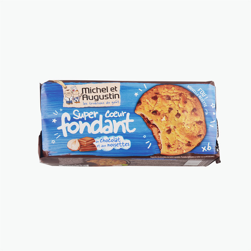 Michel et Augustin Chocolate Chip Cookies with Chocolate Filling 180g