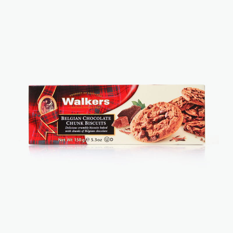 Walkers, Belgian Chocolate Chunk Biscuits 150g